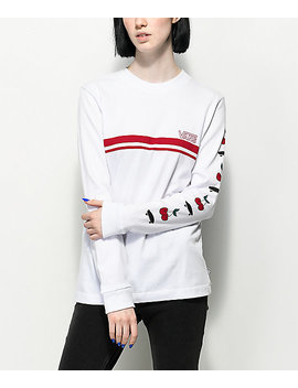 Vans Cherry White & Red Long Sleeve T Shirt by Vans