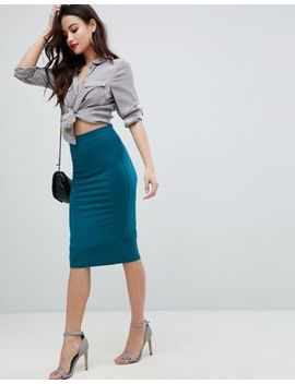 Asos Design Jersey Pencil Skirt by Asos Design