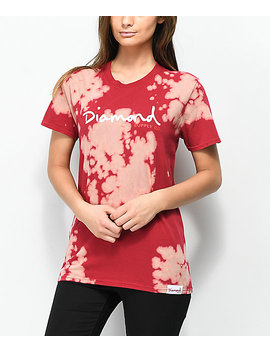 Diamond Supply Co. Og Script Red Tie Dye T Shirt by Diamond Supply