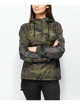 Obey World Wide Outline Camo Anorak Jacket by Obey