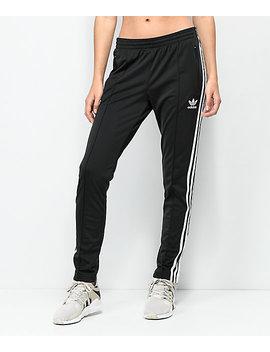 Adidas 3 Stripe Black Track Pants by Adidas