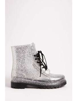 Glitter Jelly Ankle Boots by Forever 21