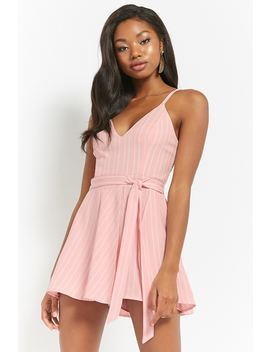 Striped Cami Skort Romper by Forever 21