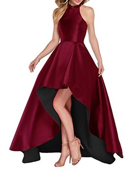Yilis Line Satin With Lace Applique Party Prom Dress Short Homecoming Dress by Yilis