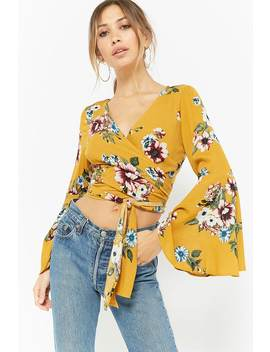 Tie Front Floral Crop Top by Forever 21