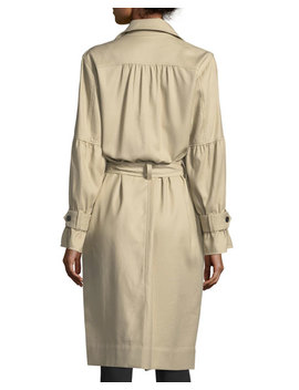 Alwena Button Front Trench Coat by Neiman Marcus