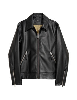 Faux Leather Jacket by H&M