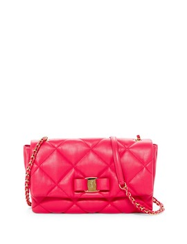 Gelly Quilted Leather Shoulder Bag by Salvatore Ferragamo