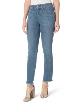 Sheri Slim Fray Hem Ankle Jeans by Nydj