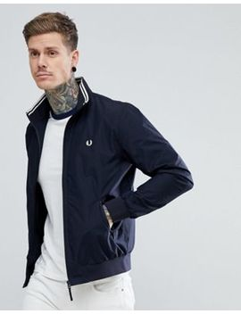 Fred Perry Brentham Zip Through Jacket In Navy by Fred Perry