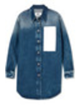 Paneled Denim Shirt by Mm6 Maison Margiela