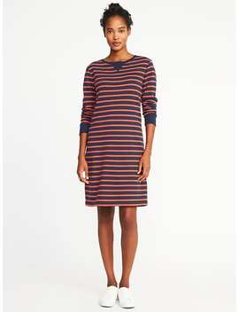 Striped French Terry Shift Dress For Women by Old Navy
