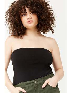 Plus Size Cropped Tube Top by Forever 21