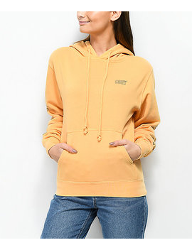 Obey Worldwide Outline Dusty Autumn Yellow Hoodie by Obey
