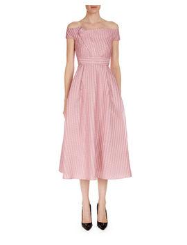 Bentham Off The Shoulder Tea Length Dress by Roland Mouret