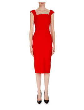 Matlock Square Neck Cap Sleeve Sheath Dress by Roland Mouret