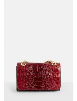 Red Snake Faux Leather Bag by Missguided
