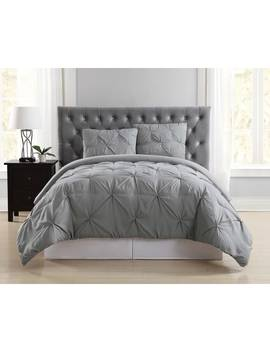 Truly Soft Pinch Pleat Solid 3 Piece Duvet Set by Truly Soft