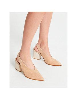Modern Rarity Carmela Slingback Court Shoes, Camel Suede by Modern Rarity