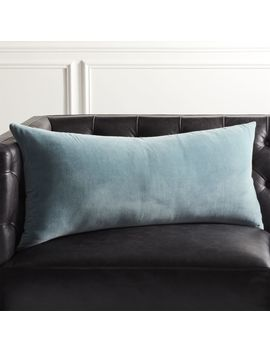"""36""""X16"""" Leisure Artic Blue Pillow by Crate&Barrel"""