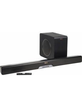 "Reference Series 2.1 Channel Soundbar System With 8"" Wireless Subwoofer And Digital Amplifier   Black by Klipsch"