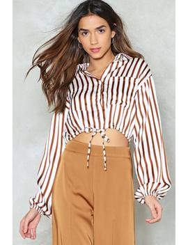 Don't Give Me That Line Cropped Shirt by Nasty Gal