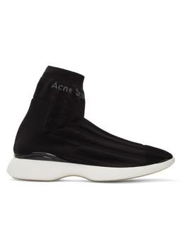 Black Tristan High Top Sneakers by Acne Studios
