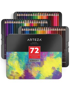 Arteza Professional Watercolor Pencils (Set Of 72) by Arteza