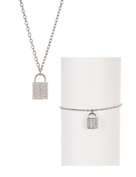 Case Crystal Necklace & Bracelet Set by Swarovski