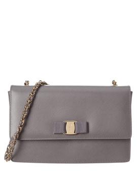 Salvatore Ferragamo Ginny Medium Vara Leather Flap Bag by Salvatore Ferragamo