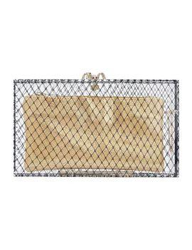Embellished Printed Plexiglas® Clutch by Charlotte Olympia