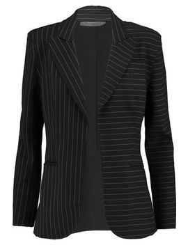 Pinstriped Crepe Blazer by Norma Kamali