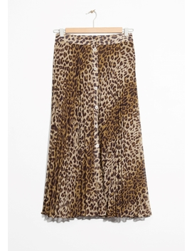 Leopard Pleated Skirt by & Other Stories