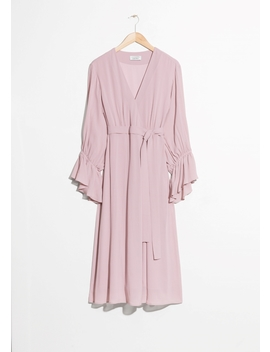 Balloon Sleeve Wrap Dress by & Other Stories