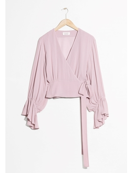 Balloon Sleeve Wrap Blouse by & Other Stories
