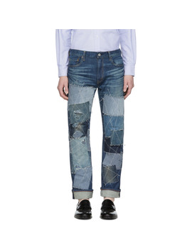 Indigo Levi's Edition Patch Jeans by Junya Watanabe