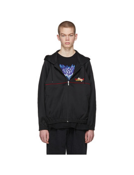 Black Chaos Embroidered Hoodie by Doublet