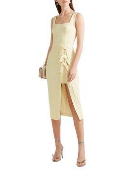Billie Bow Embellished Stretch Crepe Dress by Rebecca Vallance