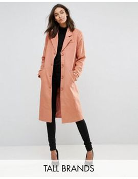 Y.A.S Tall Button Down Peacoat by Y.A.S. Tall
