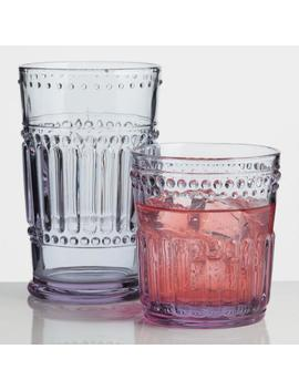 Lavender Pressed Glassware Collection by World Market
