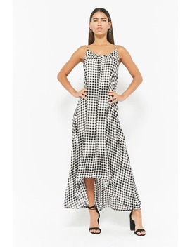Gingham High Low Maxi Dress by Forever 21