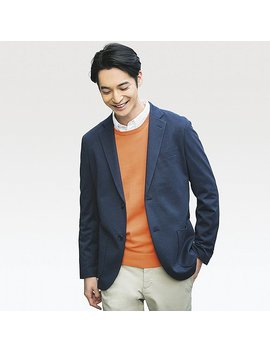 Men Comfort Jacket Blazer by Uniqlo