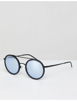 Emporio Armani 0 Ea2041 Round Sunglasses In Black 50mm by Emporio Armani