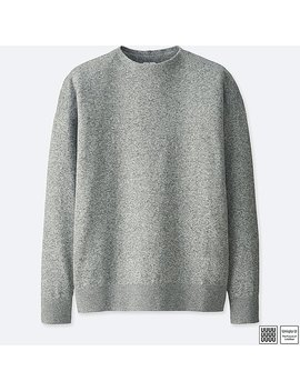 Men Uniqlo U 100% Cotton Mock Neck Long Sleeve Sweater by Uniqlo