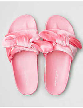 Aeo Bow Pool Slide Sandal by American Eagle Outfitters