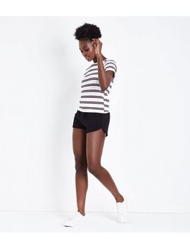Black Jersey Runner Shorts by New Look