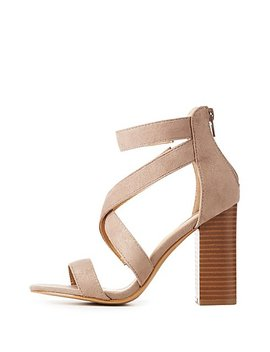 Caged Block Heel Sandals by Charlotte Russe