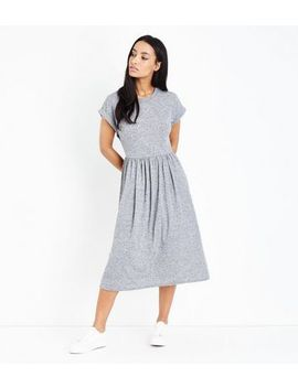 Grey Jersey Midi Skater Dress by New Look