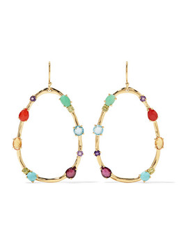 Rock Candy 18 Karat Gold Multi Stone Earrings by Ippolita