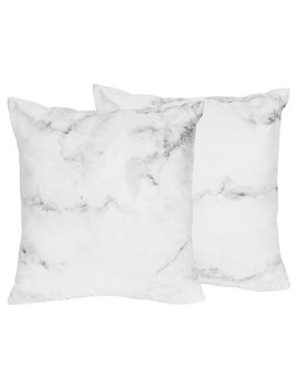 Black & White Marble Throw Pillow   Sweet Jojo Designs® by Shop This Collection